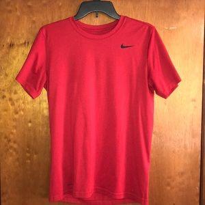 "Nike ""Dri-Fit"" Red Short Sleeve"